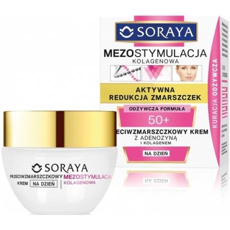 Soraya Mezostymulacja Kolagenowa Przeciwzmarszczkowy Krem z Adenozyną 50+ Dzień 50ml