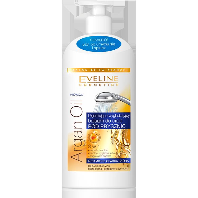 Eveline Argan Oil Ujędrniająco Wygładzający Balsam do Ciała pod Prysznic 3w1 350ml