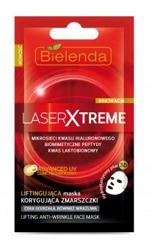 Laser Xtreme Liftingująca maska korygująca zmarszczki w hydroplastycznym płacie 3D na twarz 0.4 oz