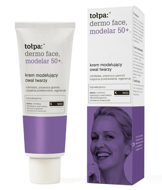 Tołpa Dermo Face Modelar Krem modelujący owal twarzy na noc 40 ml.